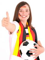 Drücken Sie den deutschen Fußballfrauen fest die Daumen!